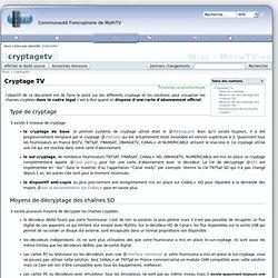 cryptagetv [Wiki - MythTV-fr]
