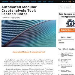 Automated Modular Cryptanalysis Tool: FeatherDuster