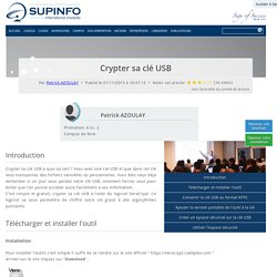Crypter sa clé USB