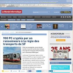 900 PC cryptés par un ransomware à la régie des transports de SF