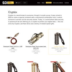 Order a cool Cryptex USB flash drive and a wide range of related steampunk gifts — SDI Gifts