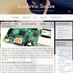 Cryptez vos sauvegardes grâce au Raspberry Pi - Ludovic Scribe