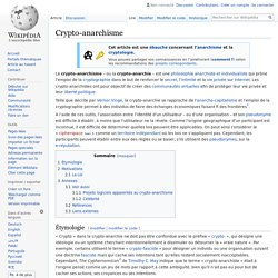 Crypto-anarchisme