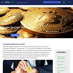 Crypto-To-Cash Conversions