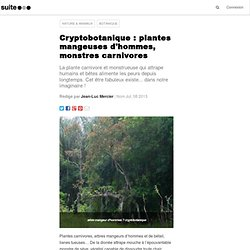 Cryptobotanique : plantes mangeuses d'hommes, monstres carnivores