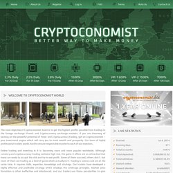 Cryptoconomist - Better way to make money
