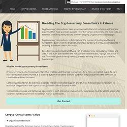 Cryptocurrency consultants in Estonia