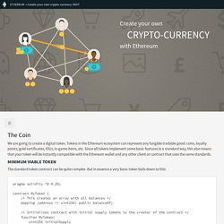 Create a cryptocurrency contract in Ethereum