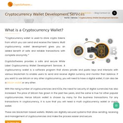 Cryptocurrency Wallet Development Services - CryptoSoftwares