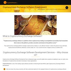 White Label Cryptocurrency Exchange Software Development Services
