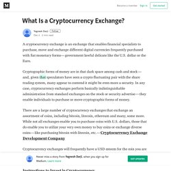 What Is a Cryptocurrency Exchange? – Yagnesh Darji
