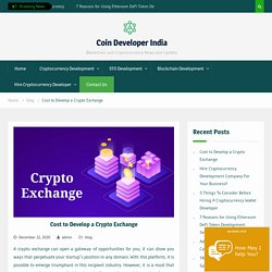 Cost to Develop a Cryptocurrency Exchange