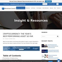 CRYPTOCURRENCY- The Year's Best-Performing Asset So Far