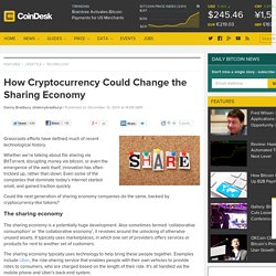 How Cryptocurrency Could Change the Sharing Economy