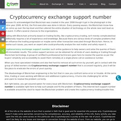 Cryptocurrency exchange support number: [+1-833-540-0910]