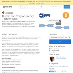 Bitcoin and Cryptocurrency Technologies - Princeton University