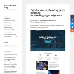 Cryptocurrency or bitcoin landing page design templates