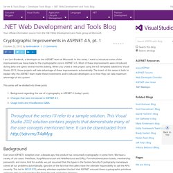 Cryptographic Improvements in ASP.NET 4.5, pt. 1