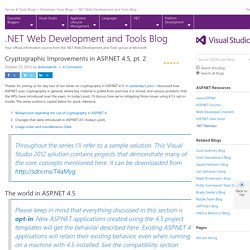Cryptographic Improvements in ASP.NET 4.5, pt. 2