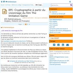EPI- Cryptographie à partir du visionnage du film The Imitation Game - Page 2/4 - Mathématiques