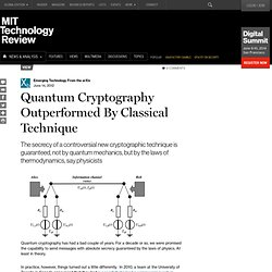 Quantum Cryptography Outperformed By Classical Technique