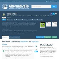 Cryptomator : Chiffrement Cloud