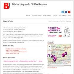 CryptoParty – Bibliothèque de l'INSA Rennes