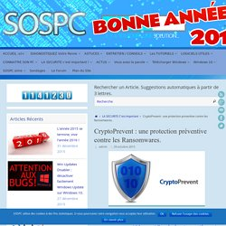 CryptoPrevent : une protection préventive contre les Ransomwares.