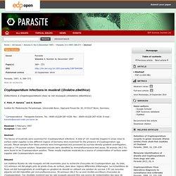 Parasite, 1997, 4, 369–371 Infections à Cryptosporidium chez le rat musqué (Ondatra zibethica)