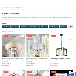 Buy Crystal Chandeliers to Add a Vibrant Look to Your House
