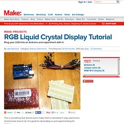 RGB Liquid Crystal Display Tutorial