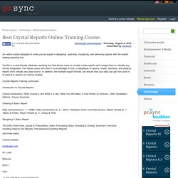 Best Crystal Reports Online Training Course
