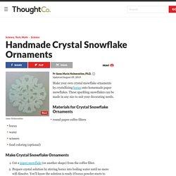 Crystal Paper Snowflake Ornaments