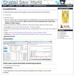 CrystalDiskInfo - Software - Crystal Dew World