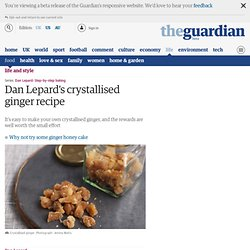 Crystallised ginger recipe