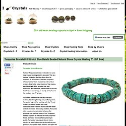 I Dig Crystals Turquoise Bracelet 01 Stretch Blue Heishi Beaded Natural Stone Crystal Healing Gem : turquoise