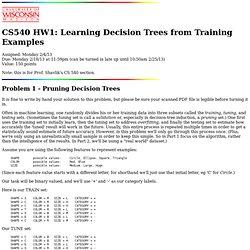 CS 540 - Homework 1