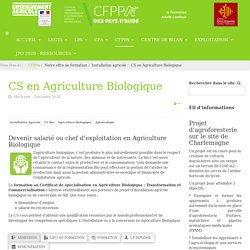 CS en Agriculture Biologique