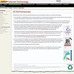 CS352 Prerequisites