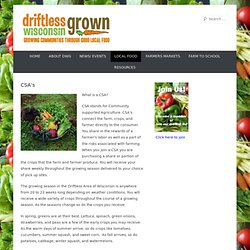 Driftless Wisconsin Grown