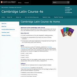 CSCP - Cambridge Latin Course