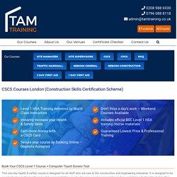 CSCS Courses in London