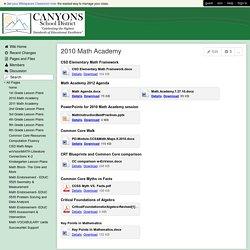 CSDElemMathSupport - 2010 Math Academy