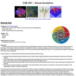 CSE 591 - Visual Analytics