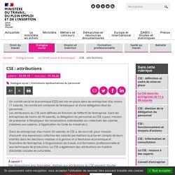 CSE : attributions