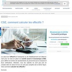 CSE, comment calculer les effectifs ?