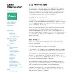 CSS Abbreviations