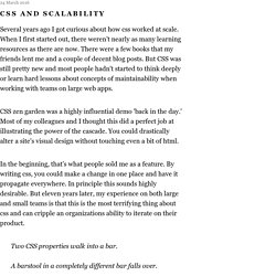 CSS and Scalability