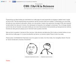 CSS : l'Art & la Science