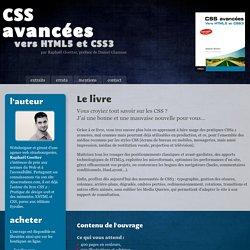 CSS avancées, vers HTML5 et CSS3